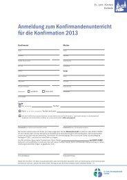 Anmeldung zum Konfirmationsunterricht (pdf 233 KB) - Indekark.de