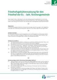 Friedhofsgebührensatzung für den Friedhof der Ev ... - Indekark.de