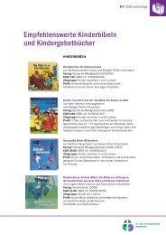 Empfehlenswerte Kinderbibeln und Kindergebetbücher - Indekark.de