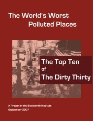 The World's Worst Polluted Places The Top Ten The ... - Inde à Paris