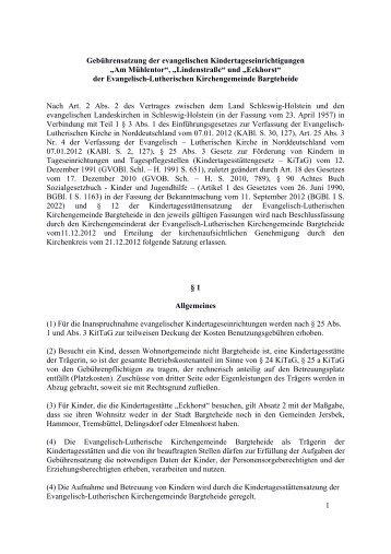 Gebührensatzung der evangelischen ... - Indekark.de