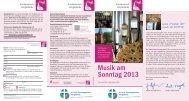 Musik am Sonntag 2013 - Indekark.de