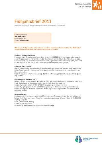 Frühjahrsbrief 2011 - Indekark.de
