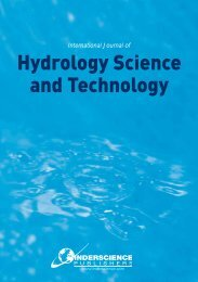 International Journal of Hydrology Science and Technology