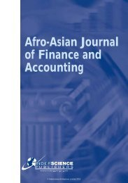 Afro-Asian Journal of Finance and Accounting - Inderscience ...