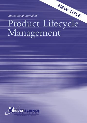 Product Lifecycle Management - Inderscience Publishers