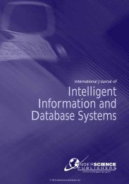 Intelligent Information and Database Systems - Inderscience ...
