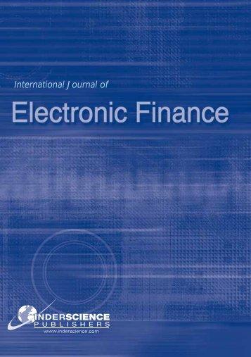 International Journal of - Inderscience Publishers