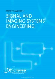 signal and imaging systems engineering - Inderscience Publishers