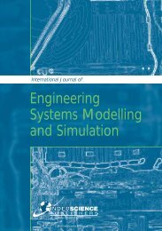 Engineering Systems Modelling and Simulation - Inderscience ...
