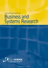 International Journal of Business and Systems Research