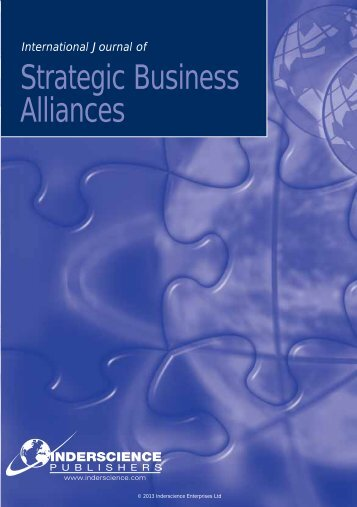 International Journal Of Strategic Business Alliances - Inderscience ...