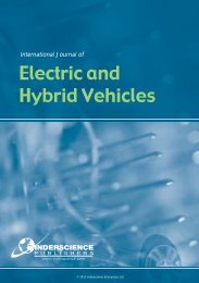 International Journal Of Electric And Hybrid Vehicles - Inderscience ...
