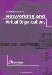 Virtual Organisations - Inderscience Publishers