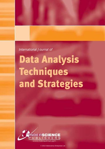 Data Analysis Techniques and Strategies - Inderscience Publishers