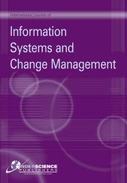 Information Systems and Change Management - Inderscience ...