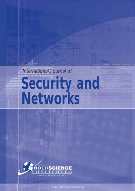 Security and Networks - Inderscience Publishers