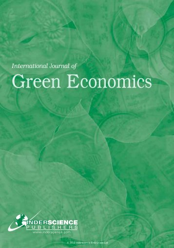 International Journal of Green Economics - Inderscience Publishers