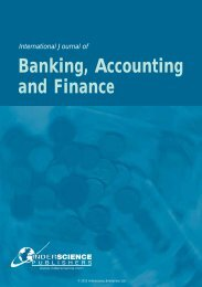 International Journal of Banking, Accounting and Finance