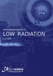 International Journal of Low Radiation - Inderscience Publishers