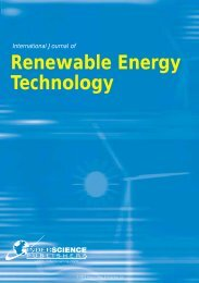 Renewable Energy Technology - Inderscience Publishers