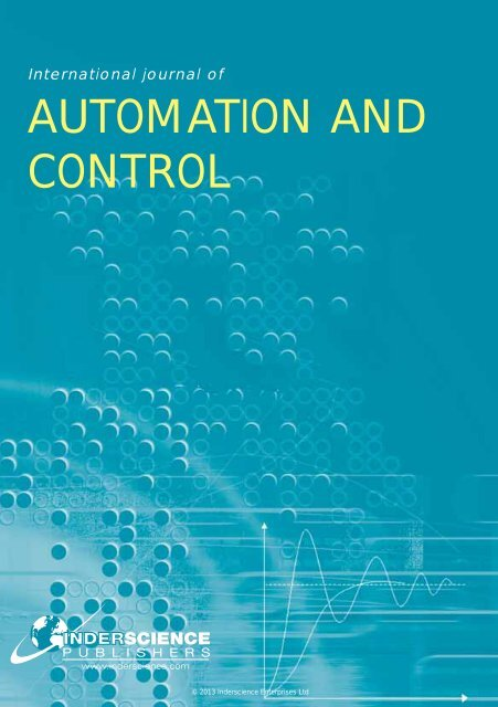 AUTOMATION AND CONTROL - Inderscience Publishers