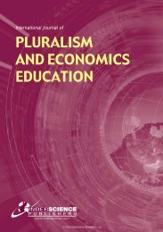 pluralism and economics education - Inderscience Publishers
