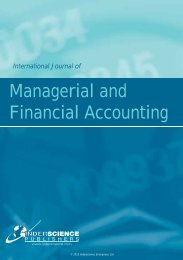 Managerial and Financial Accounting - Inderscience Publishers