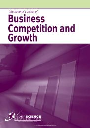 Business Competition and Growth - Inderscience Publishers