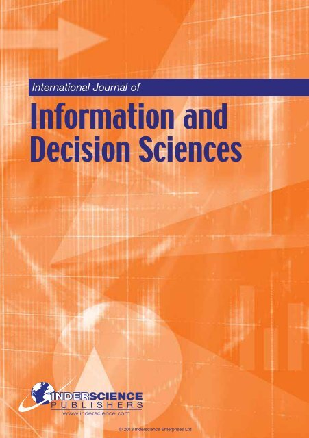 Information and Decision Sciences - Inderscience Publishers