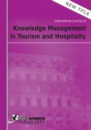Knowledge Management in Tourism and Hospitality - Inderscience ...