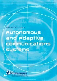 Autonomous and Adaptive Communications Systems - Inderscience ...