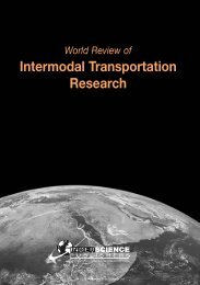 Intermodal Transportation Research - Inderscience Publishers