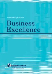 International Journal of Business Excellence - Inderscience Publishers