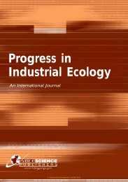 Progress in Industrial Ecology - Inderscience Publishers