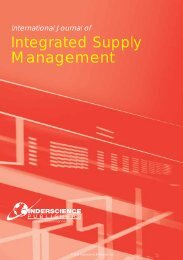 Integrated Supply Management - Inderscience Publishers