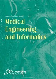 International Journal of Medical Engineering and Informatics