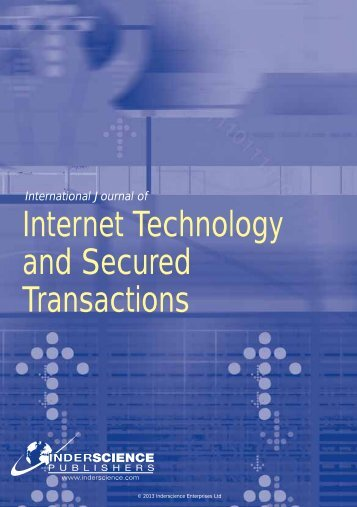 Internet Technology and Secured Transactions - Inderscience ...