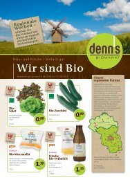 Wir sind Bio - denn's Biomarkt