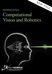 Computational Vision and Robotics - Inderscience Publishers