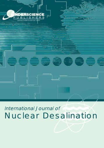 Nuclear Desalination - Inderscience Publishers