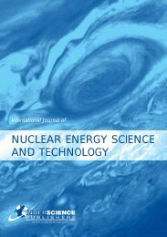 nuclear energy science and technology - Inderscience Publishers