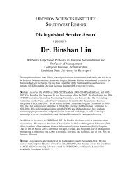 Dr. Binshan Lin - Inderscience Publishers