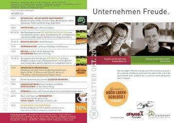 Oktober 2013 - Organix Biomarkt GmbH