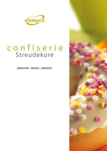 "Katalog ""confiserie-Streudekore"" - Girrbach Süßwarendekor GmbH"