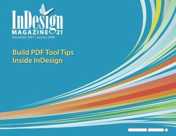 Build PDF Tool Tips Inside InDesign - InDesign User Group