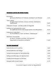 Speisekarte - Waldhotel Wilhelmshöhe