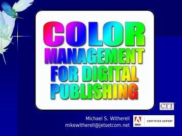 Color Management for Digital Publishing - InDesign User Group