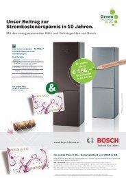 Unser Beitrag zur Stromkostenersparnis in 10 Jahren. - Bosch