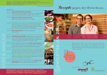 Newsletter - Organix Biomarkt GmbH